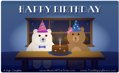 Happy Birthday with the Two Happy Bears.