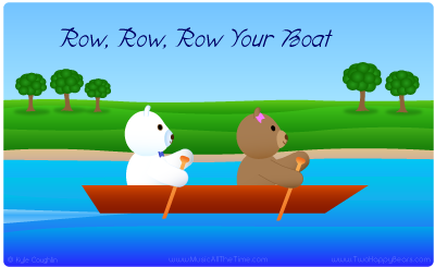 Row, Row, Row Your Boat with Two Happy Bears