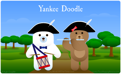 Yankee Doodle with Two Happy Bears