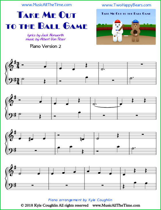 22+ Easy Take Me Out To The Ball Game Sheet Music Images